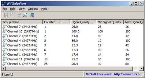 Viewing WifiInfoView v2