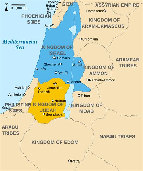 Map of the Levant circa 830 BCE (Illustration) - Ancient