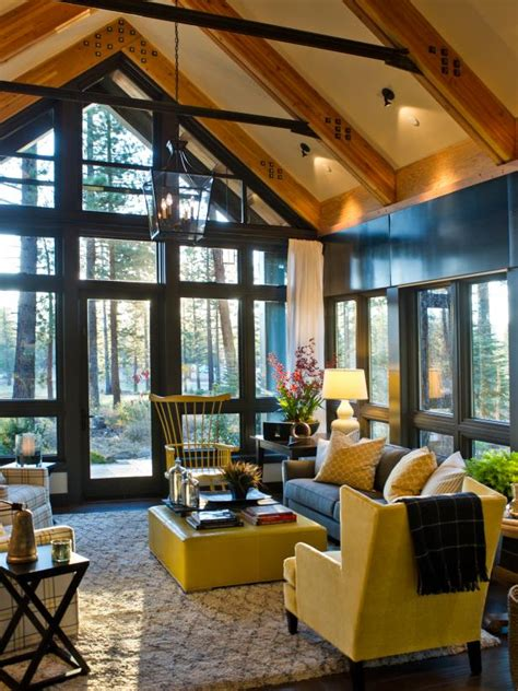 Windows, Bright Accents Create a Sunny Living Room   HGTV