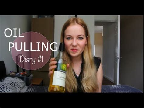 Oil Pulling Diary # 1 - Tooth Abscess & Whiter Teeth