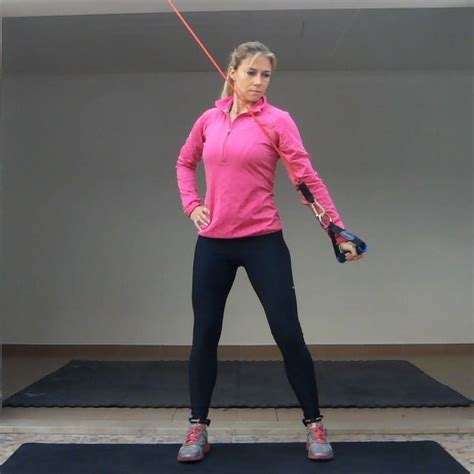 Band Shoulder Retraction and Depression Exercise   Golf