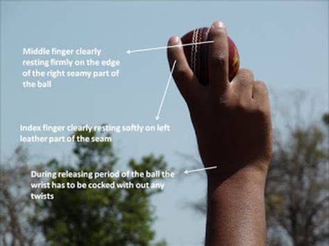 How to grip the ball for off spin - side on bowling action