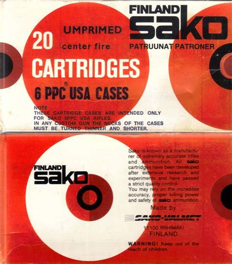 Sako boxes - date codes, company name changes and sticker
