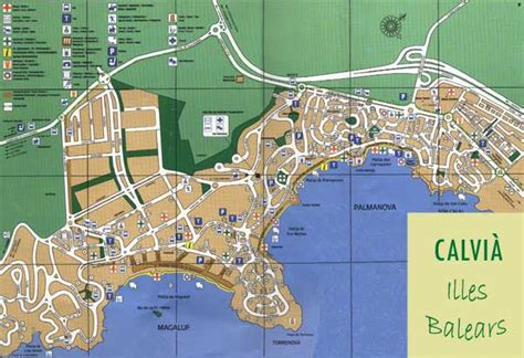 Map of Calvia map for planning your holiday in calvia