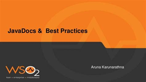 Java Docs and Best Practices