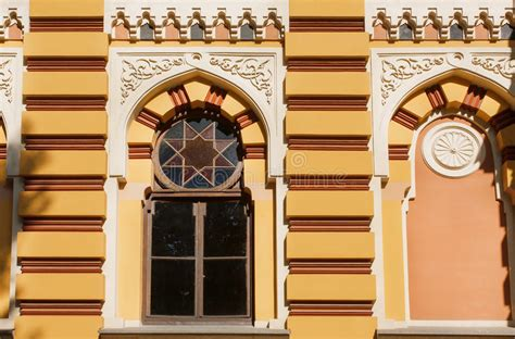 Neoclassic Architecture Wall With Windows Vintage