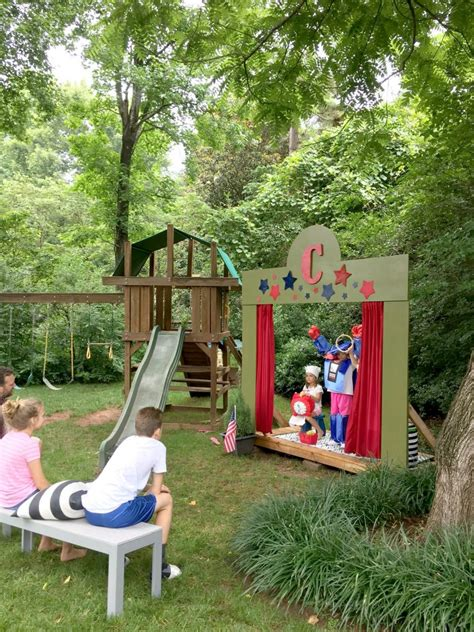 Our (DIY) Kids' Backyard Theater - Emily A