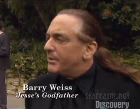 VIDEO Barry Weiss with long hair at godson Jesse James