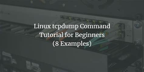 Linux tcpdump Command Tutorial for Beginners (8 Examples)