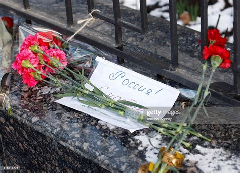 Flowers left for the victims of FlyDubai plane crash are