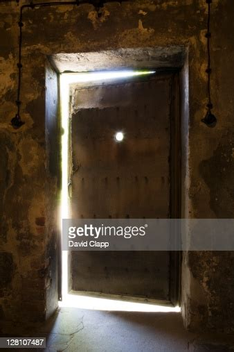 Exterior Door Of Gas Chambers In Auschwitz Concentration