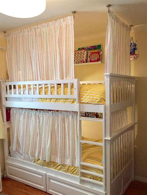 Bunk Bed Curtains using Ikea products: Dignitet wire