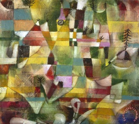 Paul Klee Landscape with Yellow Steeple 1920 painting